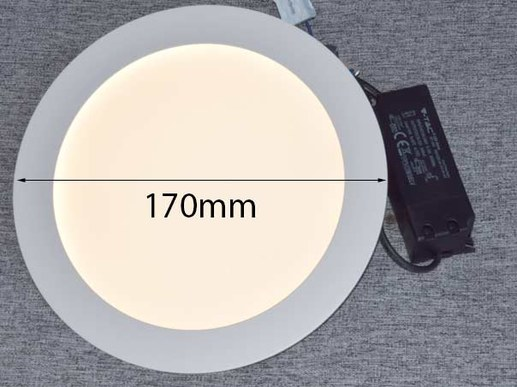 Affordable 170mm LED recessed spotlight equipped with Samsung® LEDs for a 150mm to approx. 160mm ceiling cutout.