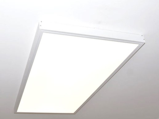 Optically the LED panel looks very nice and the LED driver disappears completely and invisibly in the housing. The result is a large light effect similar to a skylight in the ceiling.