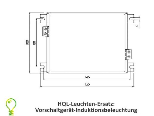 HQL lights conversion kit: 85 watt induction lamp with ext. ballast 5950lm: replacement for 160 watt lamp HQL