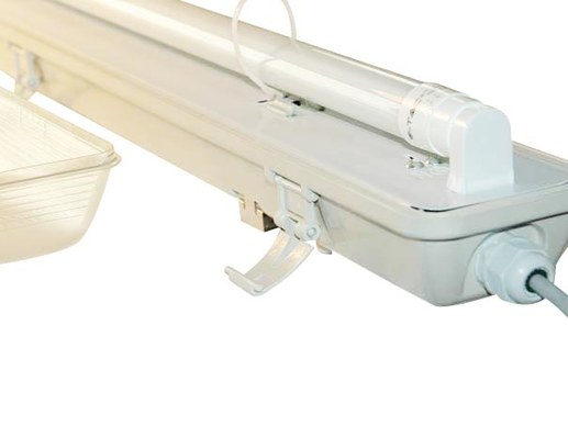 120cm LED IP65 batten incl. 18W LED tube