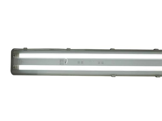 120cm LED Wannenleuchte 2-flammig + 2x BASIC 18W LED-R�hre neutralwei� 4500K