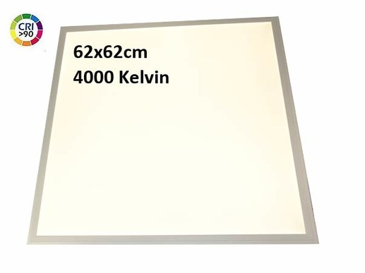 This inexpensive CRI90 LED panel is supplied with a smooth surface as standard. The model in 4000K neutral white (940) is optionally available with a structured and glare-free surface with UGR