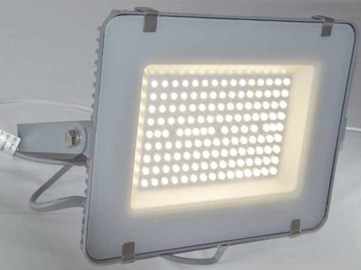 150W LED spotlight outside with Samsung LEDs in different light colors