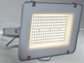 Bright and powerful LED spotlight outside with bright...