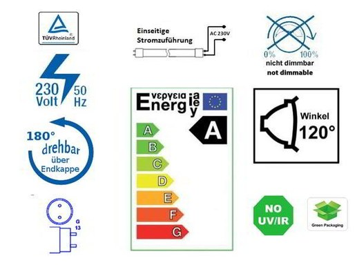 T8 G13 LED tube 60cm 10W 4500K frosted 92Lm/W