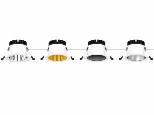 125mm LED recessed luminaire dimmable: different dimming modes selectable.The 125mm LED recessed luminaire for a cut-out of 102mm to approx. 115mm can be offered for different dimming modes. From phase angle control dimming (dimming via the power line for a small number of lights to be dimmed) or via DALI dimming in the digital DALI bus or also PUSH dimming or, 1-10Volt dimming analogue (also via a dimming line).The DALI power supply is according to the latest DALI 2 standard. This allows a high compatibility with many existing DALI bus systems. In addition to DIMMING via DALI bus, the model also supports PUSH dimming and 0-10 Volt dimming.
