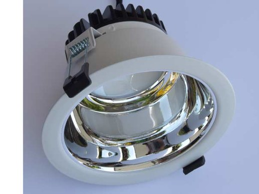 125mm LED downlight silver dimmable adjustable to 3000K -4000K - 5700K