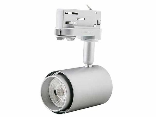 15W LED Tracklight CRI92 GAI 101 silber 3000K warmwei�