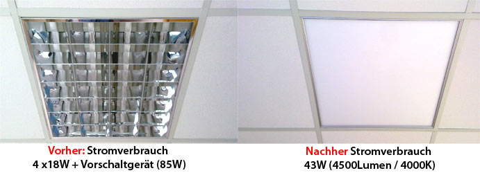 LED Panels are a very good replacement for existing louvred luminaires