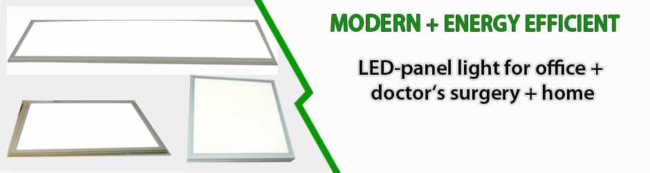 Efficient workspace lighting: LED panel light