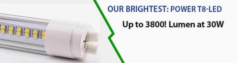 Our brightest! High Power T8 LED tubes